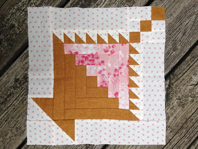 Flowers for the Cabin - an original quilt block