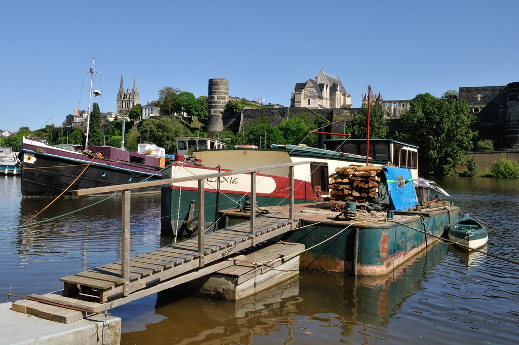 Angers, small harbor on the Maine river