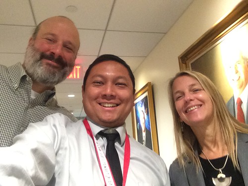 Selfie with Dava Newman and Bill Ingalls at NASA HQ