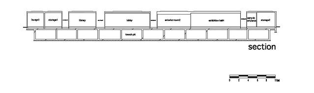 Photo:aat + Makoto Yokomizo - 富弘美術館 Tomihiro Art Museum - Drawings 12 - 剖面圖 Section By 準建築人手札網站 Forgemind ArchiMedia