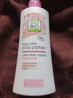 la lotion Bain vapeur Purifiante so'bio etic