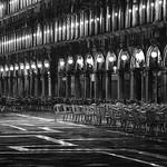 silence at St. Mark`s Square