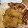 Garlic fish and BBQ chicken. Yum.