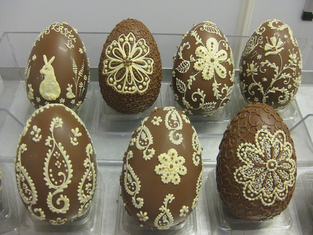 my hand decorated easter eggs.