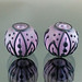 Earring pair : Soft violet leat