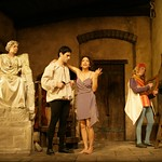 Seth Fisher, Mimi Lieber, Melinda Lopez, and Jerry Kissel in the Huntington Theatre Company's <i>Perseponie</i>. Photo: T. Charles Erickson.