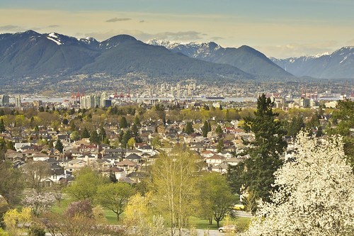 A View of Vancouver from the peak of QE park