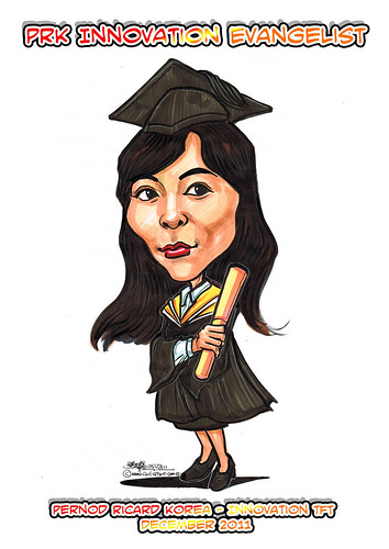 Caricature for Pernod Ricard Korea - Sunyou