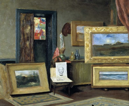 Marie P Castegnier - Dwight Tryon's Studio by Gandalf's Gallery