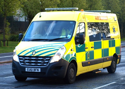 UK Specialist Ambulance Service, Renualt Master, Emergency Ambulance, EU61 BFN, 315