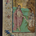 Illuminated Manuscript, Book of Hours in Dutch, Harrowing of hell, Walters Manuscript W.918, fol. 149v