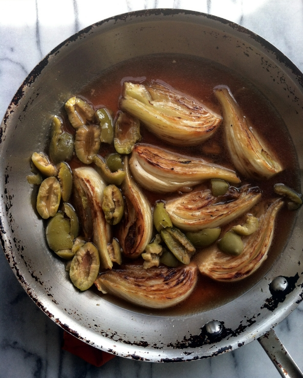 caramelized fennel and olives