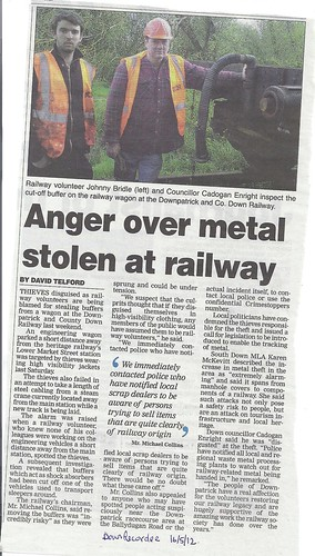 railway metal stolen down recorder by CadoganEnright
