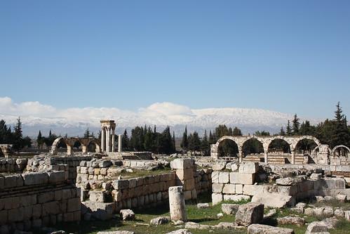 lebanon canon ruins liban anjar beqaavalley 8thcenturyad umayadcity