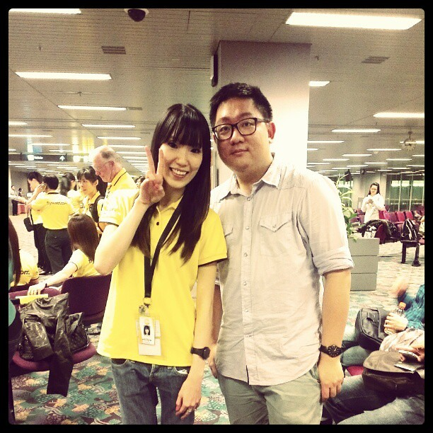Me with Shuhui, a blogger friend who is also now a Scoot cabin crew