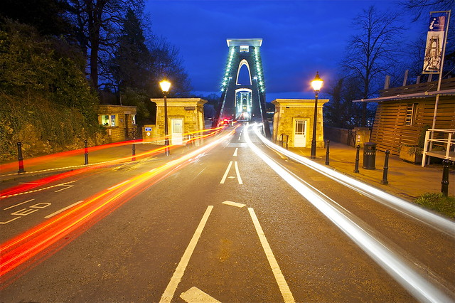 Suspension Bridge Light Trails