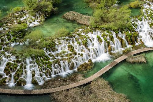 above park water waterfall wasserfall lakes croatia viewpoint cascade plitvice kroatien plitvica jezera nationoal
