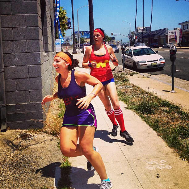 Last leg of today's run. #wonderwoman #crossfit #howwedo #competitionday