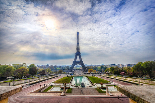 Morning Rays on the Eiffel Tower