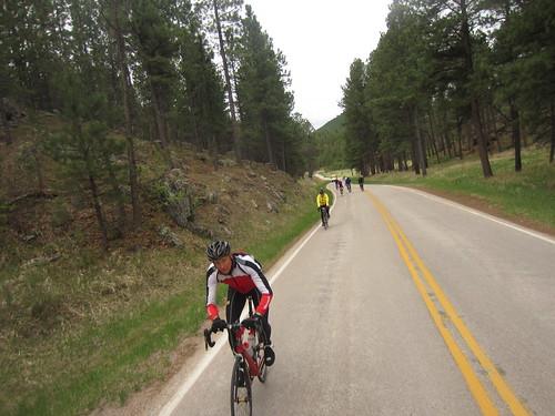 Riding through the Black Hills of South Dakota