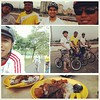 Vesak Day cycle and breakfast