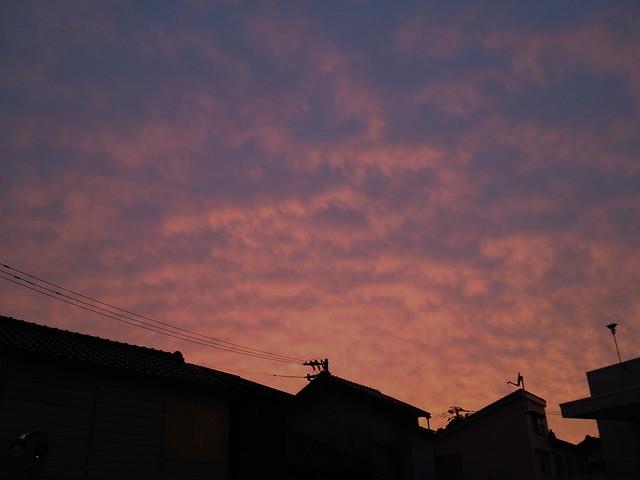 6月9日 曇りのち 夕焼け!