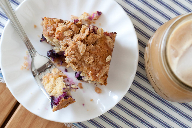 Baking with Whole Grains: Blueberry Buckle Coffee Cake