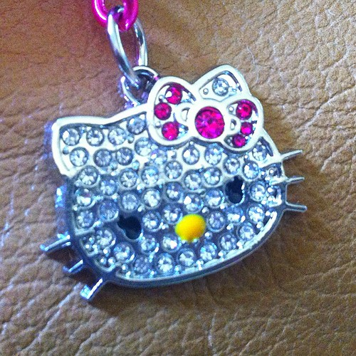 close up Hello Kitty Filofax charm