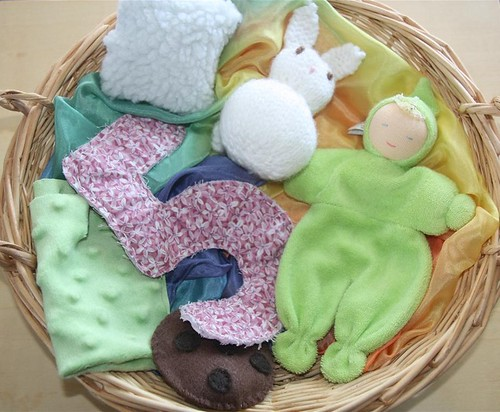 Montessori Monday Themed Treasure Baskets For Babies