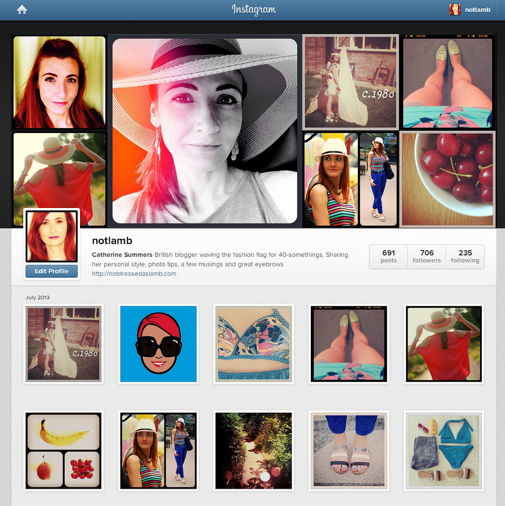 Instagram feed - colourful and varied