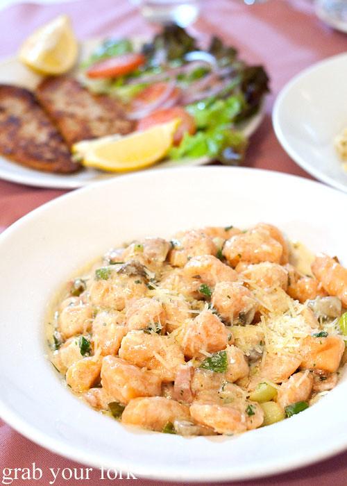 sweet potato gnocchi at nonna maria's place italian restaurant parramatta sydney