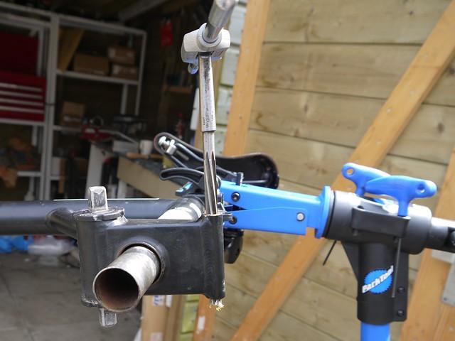 Brompton frame repair. 12