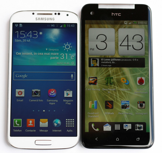 comparatie HTC Butterfly Samsung Galaxy S4