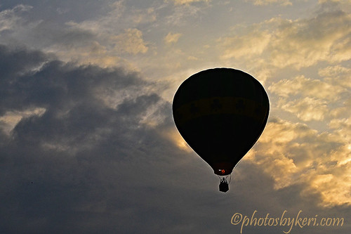 above new sky hot up silhouette clouds sunrise reflections air rally balloon nh hampshire pittsfield