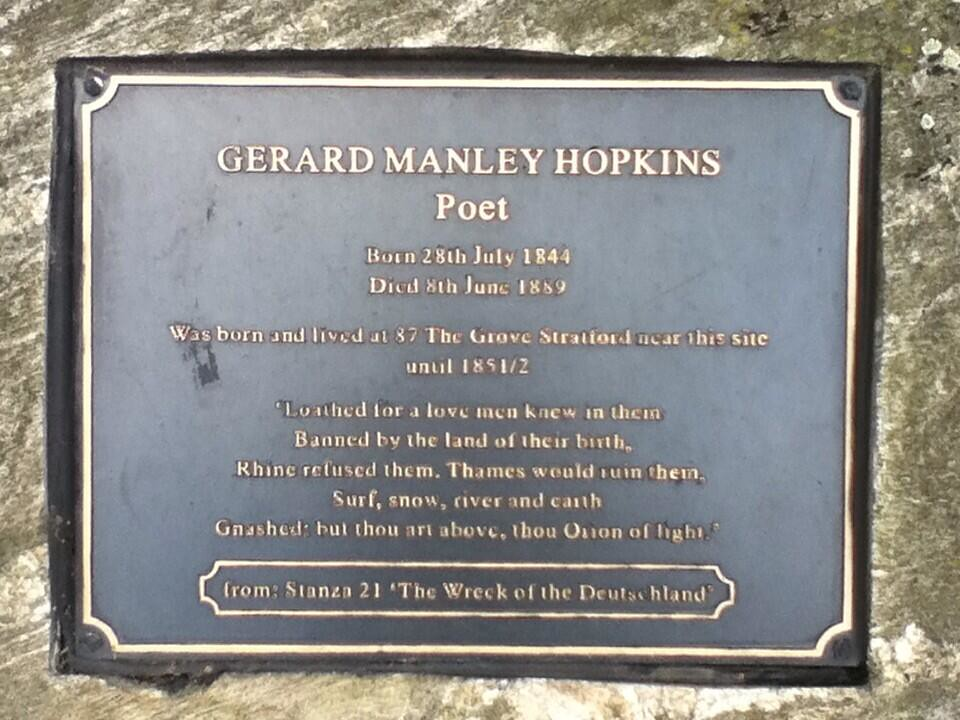 Gerard Manley Hopkins, Stratford Library, London