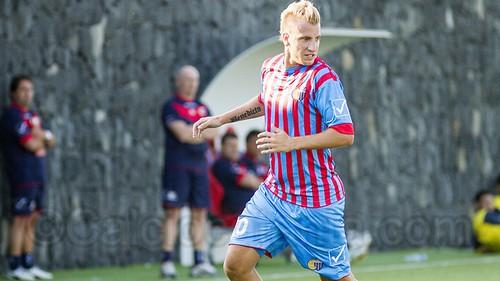 Maxi in gol su punizione quest'oggi contro la Primavera.