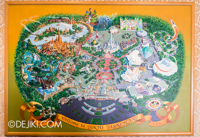 Tokyo Disneyland - Map Artwork at Guest Relations