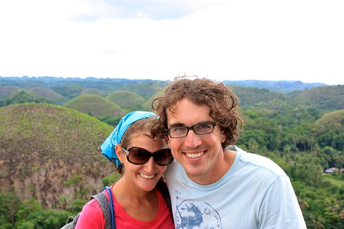 Lina and I in front of the Chocolate Hills