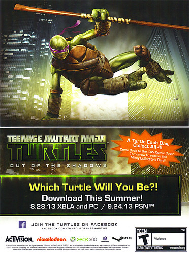 """TEENAGE MUTANT NINJA TURTLES : OUT OF THE SHADOWS"" //   SDCC ""Donatello"" Collector's card  (( 2013 ))"