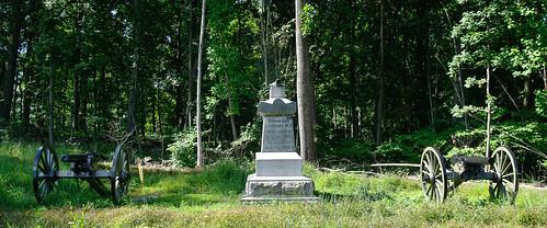 Battery M, 1st New York Light Artillery monument on Power's Hill