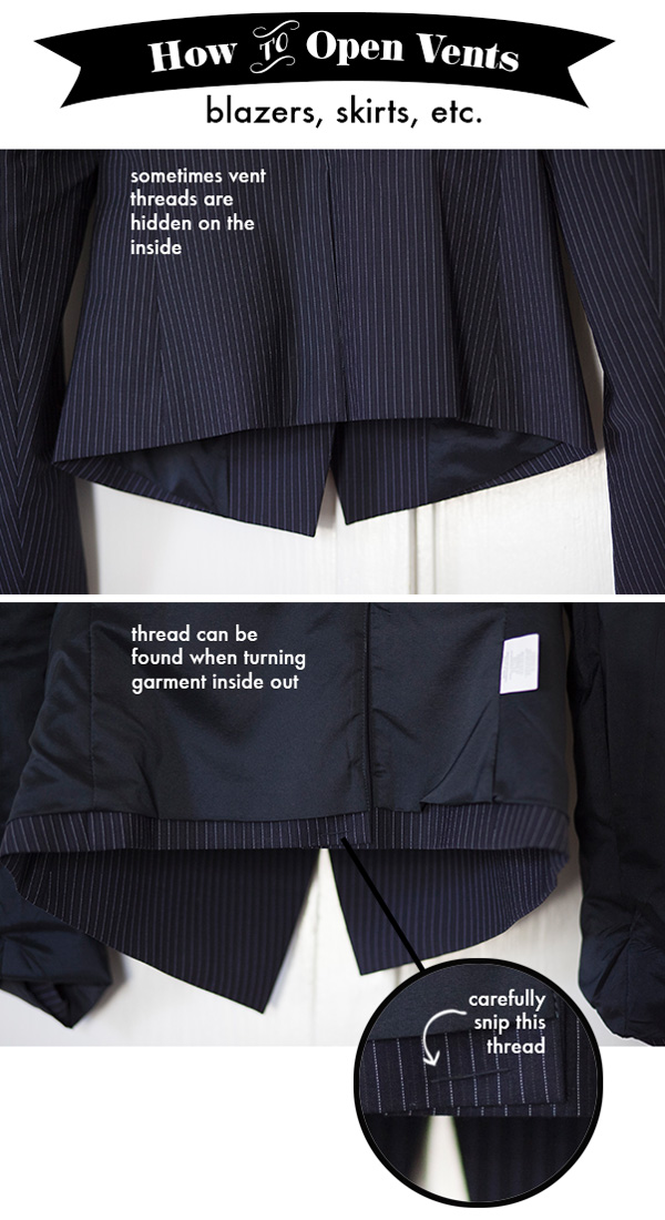 How to Open a Blazer Vent or Skirt Slit