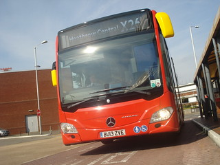 Evobus Quality Line MBK1 on Route X26, Heathrow Central Bus Station