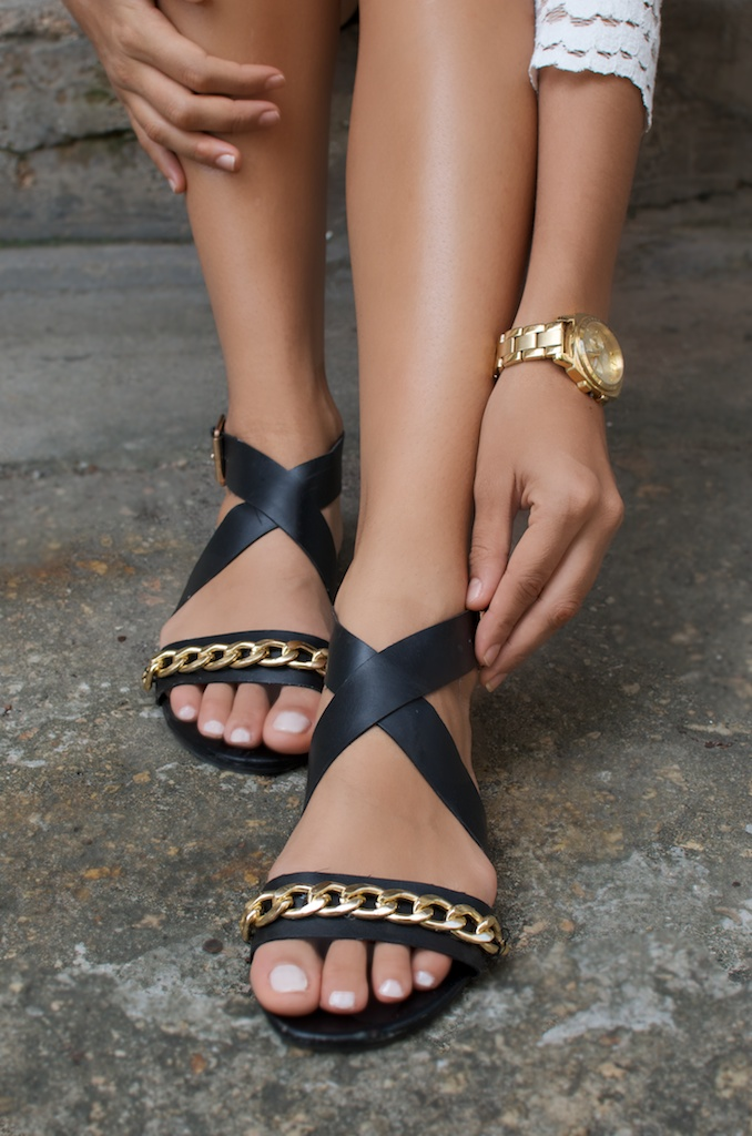 diy chain trimmed flats pic (3)