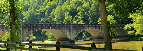 Edward Moss Gatliff Bridge at Cumberland Falls State Resort Park -  Corbin Kentucky