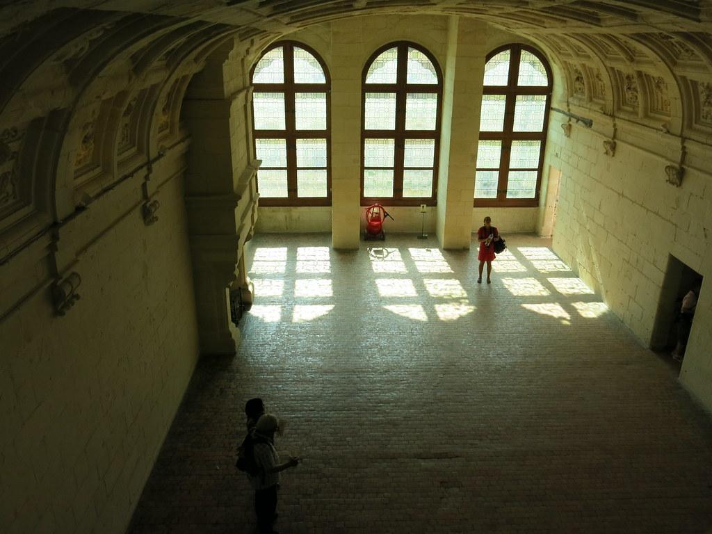 Los grandes ventanales de Chambord