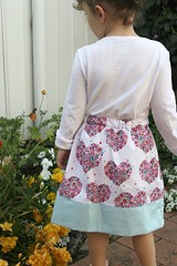 love heart skirt