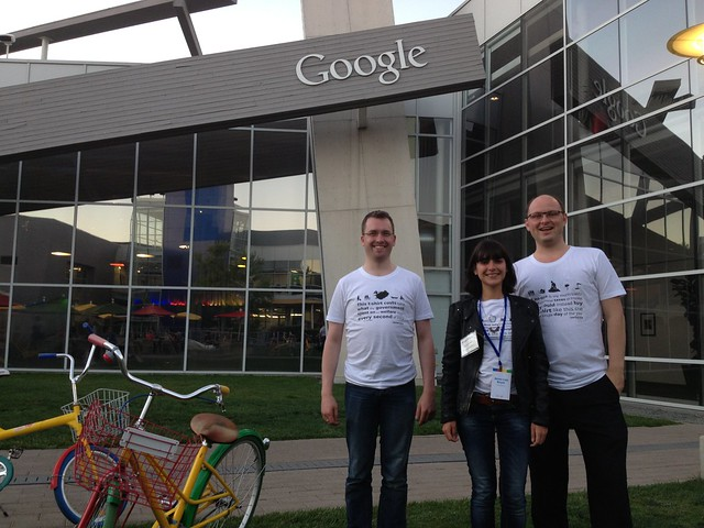 Spending t-shirts at Googleplex