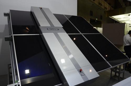 Солнечные батареи будут блестеть благодаря роботу Sharp
