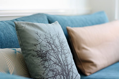 textile, linens, bed, teal, pillow, blue, cushion,