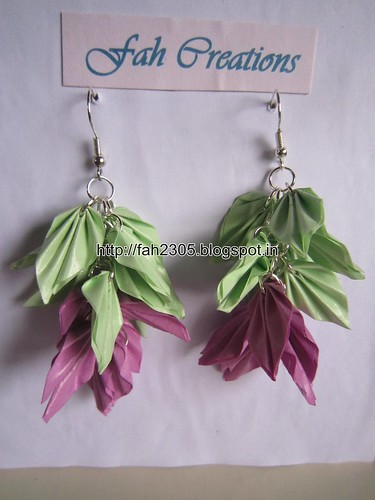 Handmade Jewelry - Paper Quilling Earrings (21) by fah2305